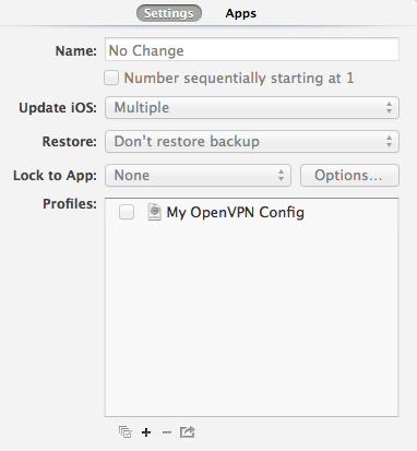 Apple Configurator OpenVPN profile